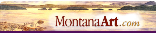 Montana Art - watercolors | Montana landscapes | acrylics